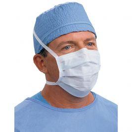 Standard Face Mask W/ Ties Blue 1x50