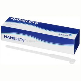 Namelets ID Bracelets Write-On Style Adult White 1x100