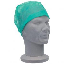 Premier Nurses Cap Elastic Green 1x100