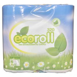 Eco Roll Toilet Roll 2 Ply White 9x4