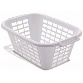 Plastic Linen/laundry Basket White