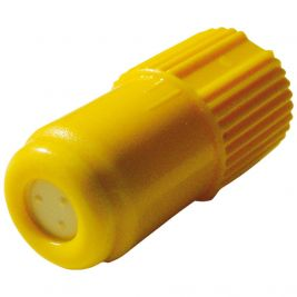 Intermittent Injection Cap Luer Lock Yellow 1x100