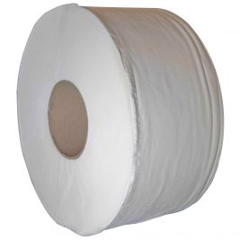 Care Essentials Mini Jumbo Toilet Roll 76mm Core 1x12