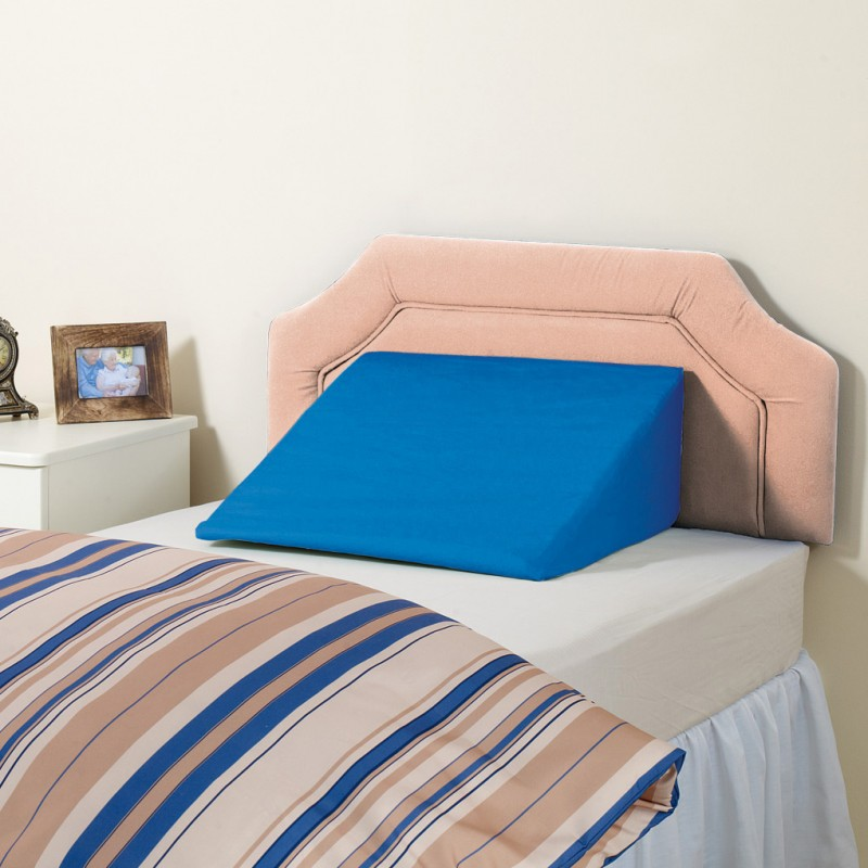 Apex bed wedge blue wipe able for Able furniture