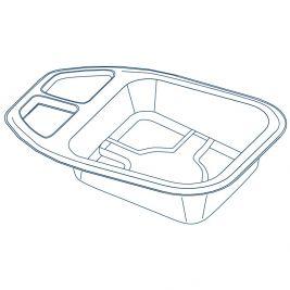 Tenneo Maxi Slipper Pan 2 Litres 1x100