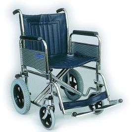 Standard Width Car Transit Wheelchair with Folding Back