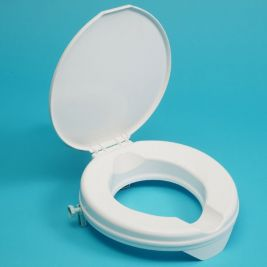 Deluxe Prima Raised Toilet Seat 5cm With Lid