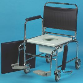 "Heavy Duty Deluxe Chrome Plated Steel Commode 20"" Seat"