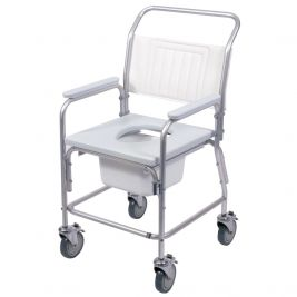 Aluminium Commode and Shower Chair without Footrest