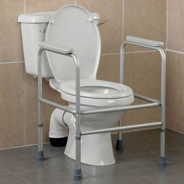 Aluminium Adjustable Height Toilet Surround Frame