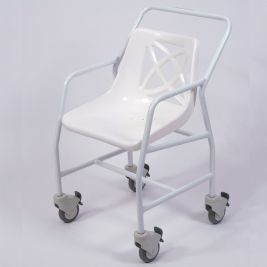 Economy Shower Chair With Wheels