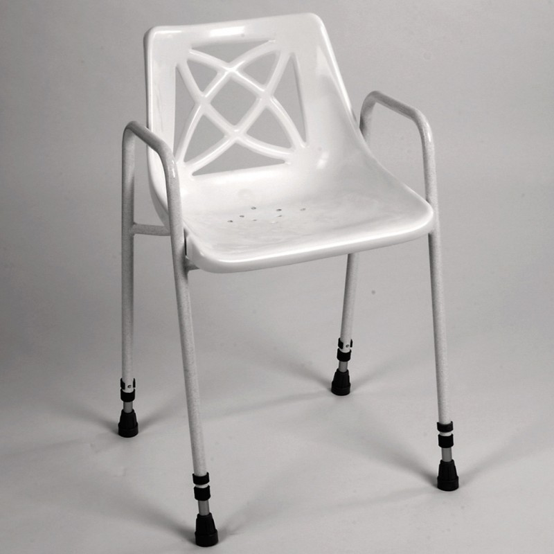 Economy Shower Chair Without Wheels Height Adjustable
