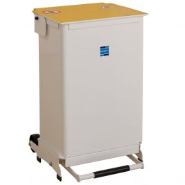 Kendal Waste Bin 50l Removable Body Yellow Lid