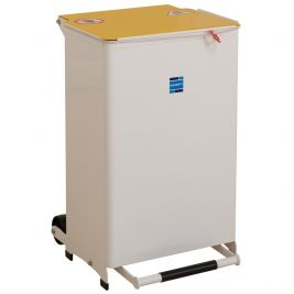 50 LITRE MEDIUM BIN, YELLOW LID