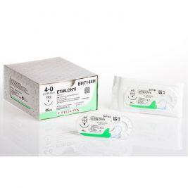 30cm Ethilon Black 10-0 W/ 6.5mm 3/8 Circle Adv Micro-point Spatula