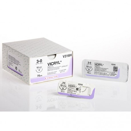 45cm Vicryl Violet 4-0 W/ 22mm 1/2 Circle Conven Cut Needle