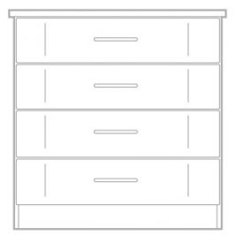 Geneva 4 Drawer Chest 475mm