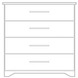 Livorno 4 Drawer Chest 475mm