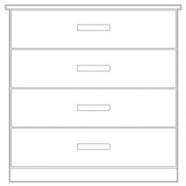Lugano 4 Drawer Chest 600mm