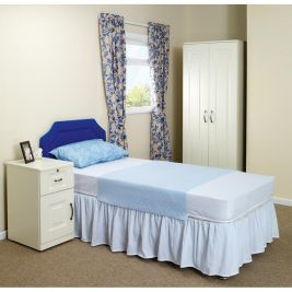 Senset Fitted Quilted Bed Pad Blue