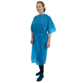 Premier Examination Gown Blue Short Sleeves 1x50