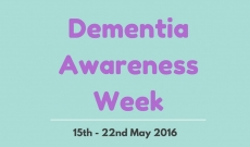 Get Involved in Dementia Awareness Week 2016